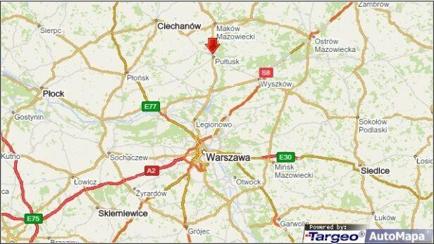 Kolizja miała miejsce w Pułtusku targeo