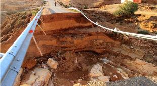 Powódź w Maroko spowodowała osunięcie ziemi