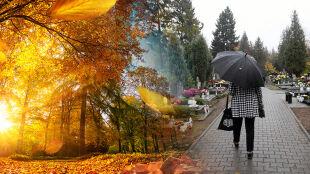 Piękny koniec października, a we Wszystkich Świętych już deszcz i chłód