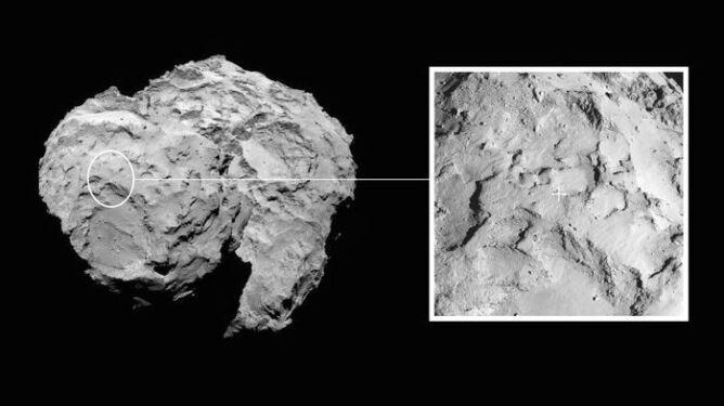 ESA wskazała miejsce lądowania Rosetty. Szansa na powodzenie misji sięga 75 proc.