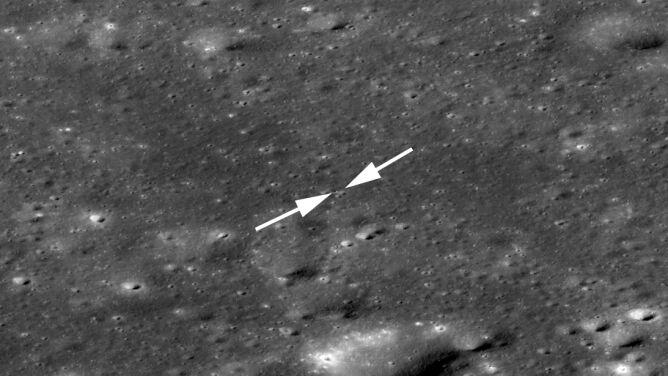 NASA sfotografowała chiński statek <br />kosmiczny na Księżycu