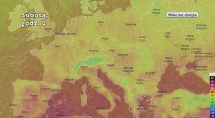 Prognozowana temperatura w następnych dniach w Europie (Ventusky.com)
