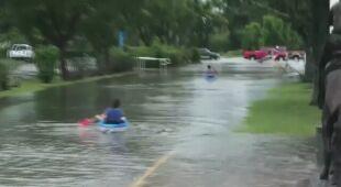 Skutki ulew w Luizjanie