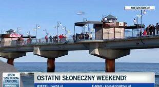Międzyzdroje: ostatni ciepły weekend (TVN24)